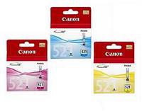 Canon 2934B007AA CYM CLI-521 Ink Cartridges Pack( 3x9ml )
