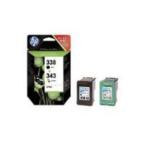 HP 338/343 Inkjet Print Cartridges (Combo-Pack)