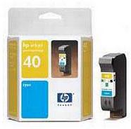 HP No.40 Cyan InkJet Cartridge (42ml)