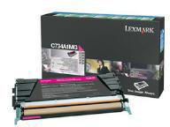 Lexmark 0C734A1MG Magenta Toner Cartridge (6,000 Pages)
