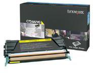 Lexmark 0C734A2YG C734A2YG Yellow Toner Cartridge (6,000 Pages)