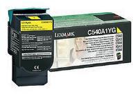 Lexmark 0C540A1YG Yellow Return Program Toner Cartridge (1,000 Pages)