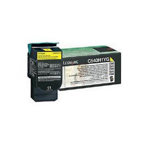 Lexmark 0C540H1YG Yellow High Yield Return Program Toner Cartridge (2,000 Pages)