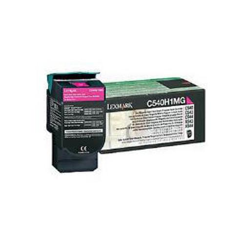 Lexmark 0C540H1MG Magenta High Yield Return Program Toner Cartridge (2,000 Pages)