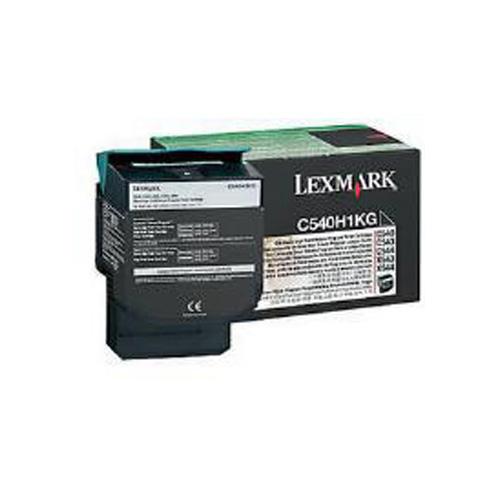 Lexmark 0C540H1KG Black High Yield Return Program Toner Cartridge (2,500 Pages)