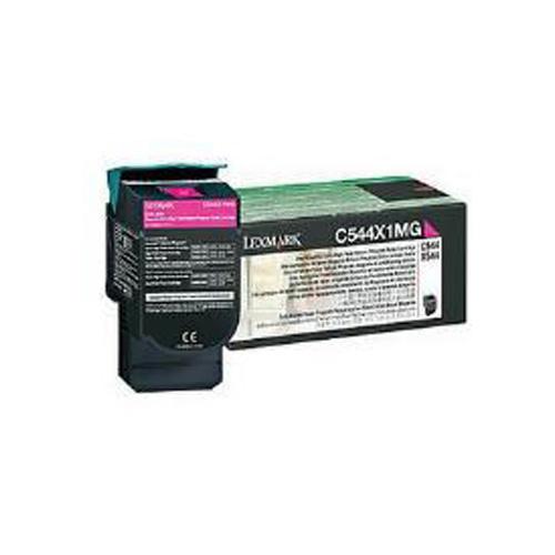 Lexmark 0C544X1MG Magenta Extra High Yield Return Program Toner Cartridge (4,000 Pages)