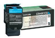 Lexmark 0C544X1CG Cyan Extra High Yield Return Program Toner Cartridge (4,000 Pages)