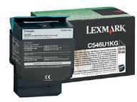 Lexmark C546U1KG Black Extra High Yield Return Program Toner Cartridge (8,000 Pages)