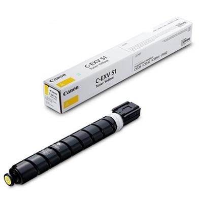 Canon 0484C002 C-EXV51 Yellow Toner Cartridge (60,000 Pages)