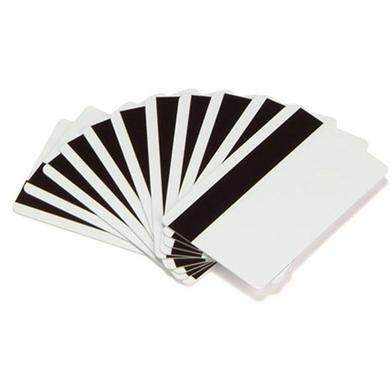 Zebra Premier (PVC) Blank White Cards (Hi-Co Magnetic Stripe)