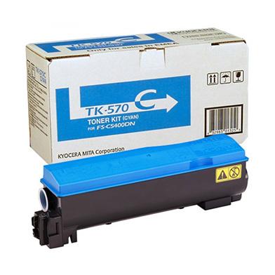 Kyocera 1T02HGCEU0 TK-570C Cyan Toner Kit (12,000 pages)
