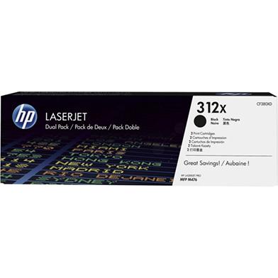 HP CF380XD 312X Black Toner Dual Pack (4,400 pages)
