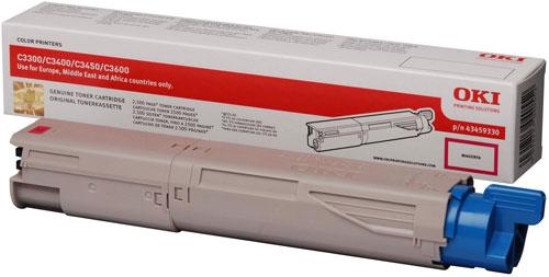OKI 43459330 Hi Cap Magenta Toner Cartridge (2,500 pages)
