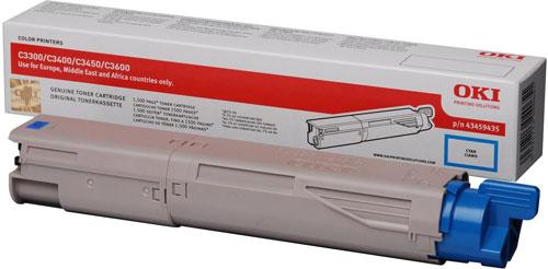 OKI 43459435 Standard Cyan Toner Cartridge (1,500 pages)