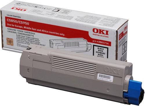 OKI 43865724 Black Toner Cartridge (8,000 Pages)