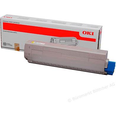 OKI 45862837 Yellow Toner Cartridge (7,300 pages)