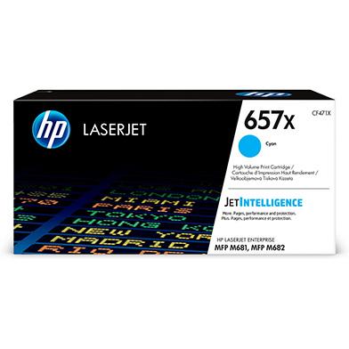 HP CF471X 657X Cyan High Yield Toner Cartridge (23,000 Pages)