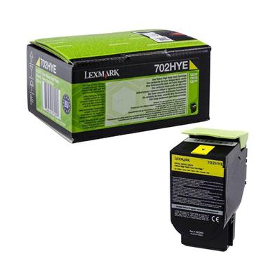 Lexmark 70C2HYE High Capacity Yellow Toner Cartridge (3,000 Pages)