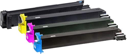 Konica Minolta 8938 Toner Rainbow Pack CMY (12,000 pages) + Black (15,000 pages)
