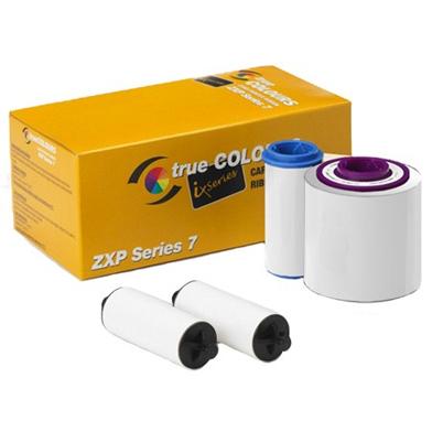 Zebra 800077-709EM Black/White Printer Ribbon (2500 Images)