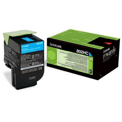 Lexmark High Yield Cyan Toner Cartridge (3,000 Pages)