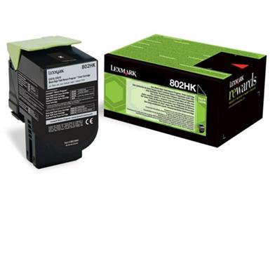 Lexmark 80C2HKE High Yield Black Toner Cartridge (4,000 Pages)