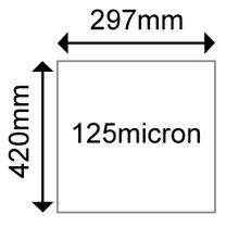 OKI 09450482 Matt Polyester A3 125 microns (100 Shts)