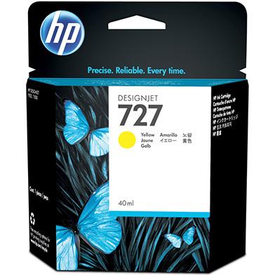 HP 727 Yellow DesignJet Ink Cartridge (40ml)
