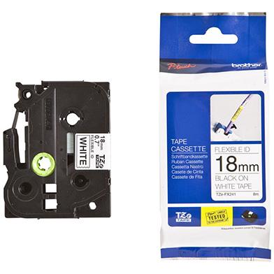 Brother TZEFX241 TZe-FX241 18mm Flexible Labelling Tape (BLACK ON WHITE)