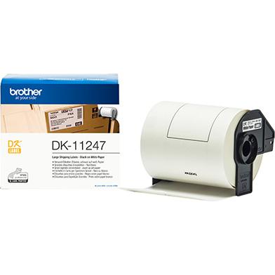 Brother DK11247 DK-11247 103mm x 164mm Label Roll (BLACK ON WHITE)