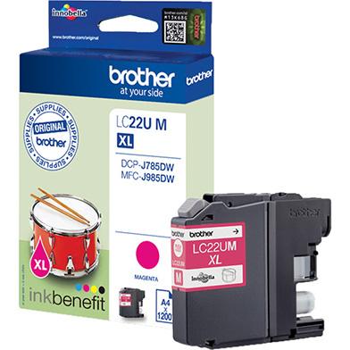 Brother LC22UM LC-22UM Magenta Ink Cartridge (1,200 Pages)