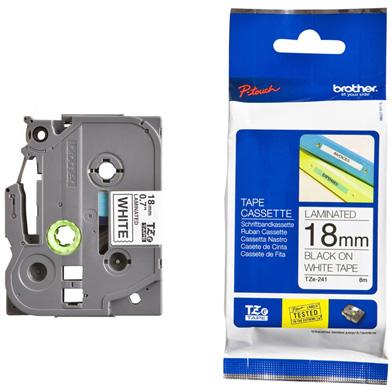 Brother TZEN241 TZe-N241 18mm Labelling Tape (BLACK ON WHITE)
