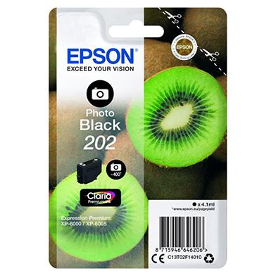 Epson C13T02F14010 Photo Black 202 Claria Premium Ink (400 Pages)