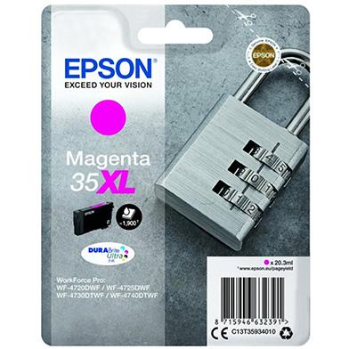 Epson C13T35934010 Magenta 35XL DURABrite Ultra Ink Cartridge (1,900 Pages)