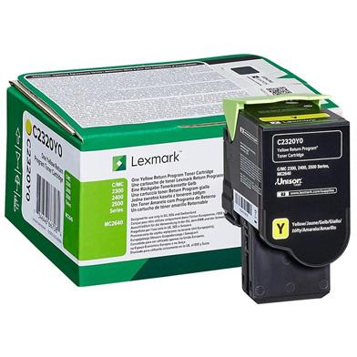 Lexmark C2320Y0 Yellow Return Programme Toner Cartridge (1,000 Pages)