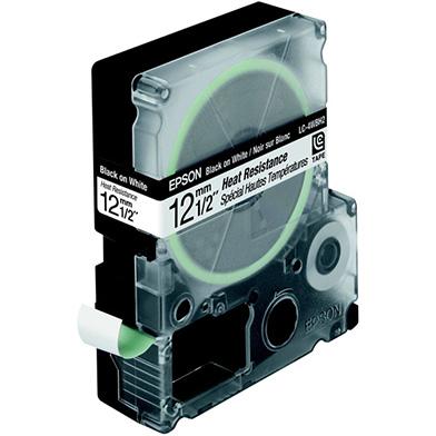 Epson C53S625420 Black/White 12mm (2m) Tape