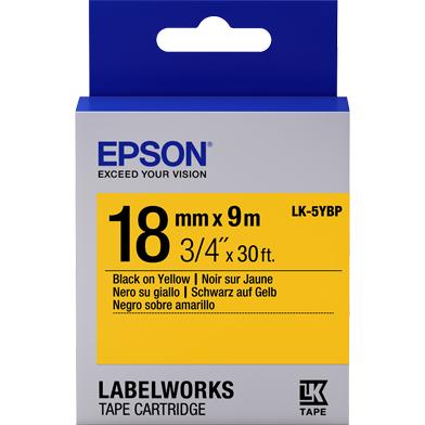 Epson C53S655003 LK-5YBP Pastel Label Cartridge (Black/Yellow) (18mm x 9m)