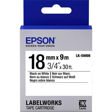 Epson C53S655006 LK-5WBN Standard Label Cartridge (Black/White) (18mm x 9m)