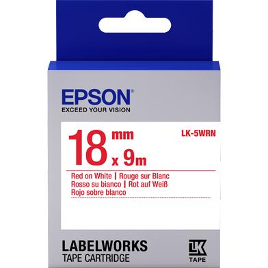Epson C53S655007 LK-5WRN Standard Label Cartridge (Red/White) (18mm x 9m)