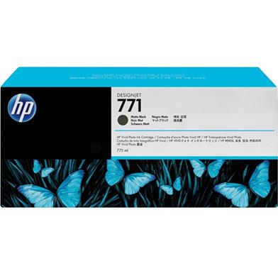 HP B6Y07A No. 771 Matte Black InkJet Print Cartridge (775ml) for DesignJet Printers