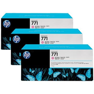 HP CR254A No. 771 Light Magenta Ink Cartridge 775ml (3-Pack) for DesignJet Printers