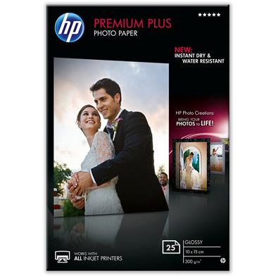 HP CR677A Premium Plus Glossy Photo Paper - 300gsm (25 Sheets / 10 x 15 cm)