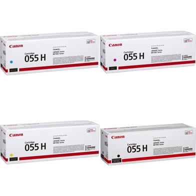Canon 055H Toner Cartridge Value Pack CMY (5.9K Pages) K (7.6K Pages)