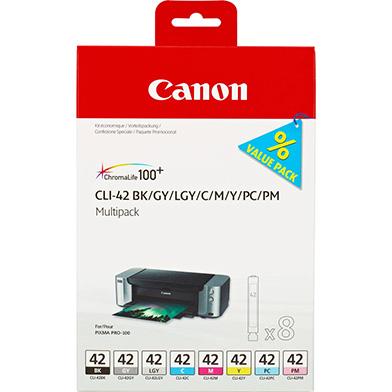 Canon 6384B010 CLI-42 8 Ink Cartridge Multipack (13ml x 8)