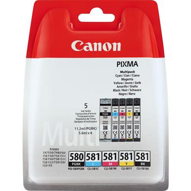 Canon 2078C005 PGI-580/CLI-581 5 Colour Ink Cartridge Multipack