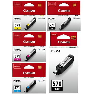 Canon CANCLI571VAL CLI-571 + PGI-570PGBK Ink Cartridge Value Pack