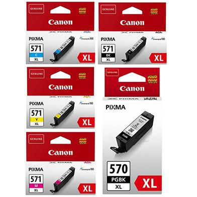 Canon CLI-571XL + PGI-570PGBK XL Ink Cartridge Value Pack