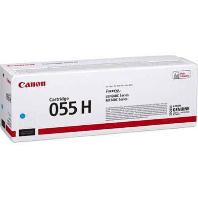 Canon 3019C002 055H Cyan Toner Cartridge (5,900 Pages)