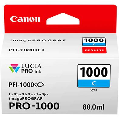 Canon 0547C001 PFI-1000C Cyan Ink Cartridge (675 Photos)