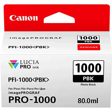 Canon 0546C001 PFI-1000PBK Photo Black Ink Cartridge (256 Photos)